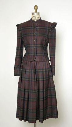 Suit, Perry Ellis, American, F/W 1981-82, wool