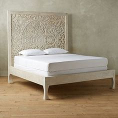 Anthropologie Lombok Bed Look for Less Bedroom Furniture, Home Furniture, Bedroom Decor, Bedroom Ideas, Kitchen Furniture, Ikea Bedroom, Furniture Outlet, Cozy Bedroom, White Bedroom