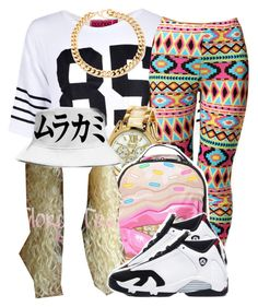 """""""."""" by trillest-queen ❤ liked on Polyvore featuring Boohoo, Sprayground, Alessandra Rich and Retrò"""