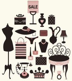 Free Girly Vector Collection - Free Vector Site   Download Free Vector Art, Graphics