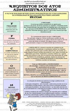 Direito Administrativo - requisitos dos atos administrativos II.