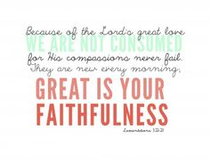 great is Your faithfulness! Words Quotes, Wise Words, Me Quotes, Sayings, Lamentations 3 22 23, Psalms, Great Is Your Faithfulness, Lord And Savior, Word Of God