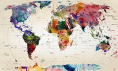 """map"" Art Print by Mark Ashkenazi on Society6."
