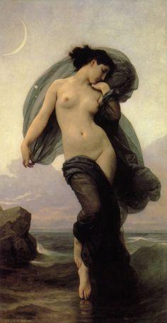 'Le crepuscule Twilight' - by William Bouguereau (French, 1825-1905)