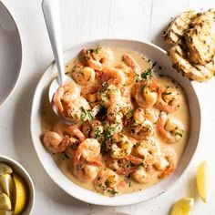 Creamy garlic prawns | New World Fish Recipes, Seafood Recipes, Keto Recipes, Weekly Recipes, Garlic Fish Recipe, Creamy Garlic Prawns, Fish And Seafood, Meals For The Week, Low Carb Keto