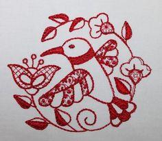 Quilt Squares Set of 10 Machine Embroidered Hummingbirds Quilting Squares