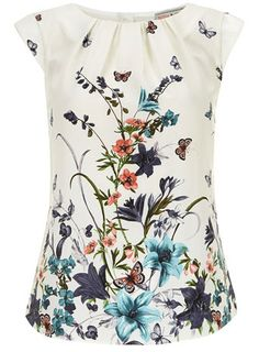 Billie and Blossom Cream butterfly button blouse - Love this with some dark skinny jeans and a blazer...