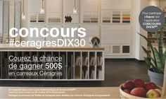 Courez la chance de gagner 500$ en carreaux Céragrès! Home Decor, Tile, Pageants, Interior Design, Home Interior Design, Home Decoration, Decoration Home, Interior Decorating