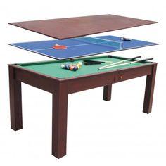 Multijuego 3 en 1 - 399,95 € #multijuego #ping-pong #mesa #comedor #barato