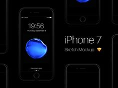 iPhone 7 Mockup - Free sketch resource for download #sketchhint #sketch #resource #app #freebie #free