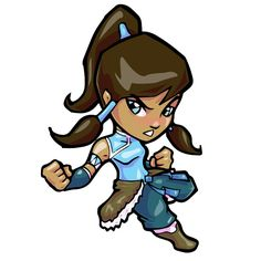 "- Be one with the elements with Korra from the last air bender. - 2.5""x4.5"" sticker"