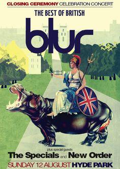 Blur - olympic 2012 closing ceremony
