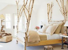 Nature Inspired Bedroom Forests Tree Branches 63 Ideas For 2019 Nature Inspired Bedroom, Box Bedroom, Bedroom Ideas, Master Bedroom, Tree Bed, Best Duvet Covers, Branch Decor, Crib Sets, Decoration Table