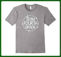 Mens Team Fourth 4th Grade Tshirt Teacher First Day School Last XL Slate - Careers professions shirts (*Amazon Partner-Link)