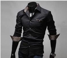 leopard-print-collar-slim-fit-shirt
