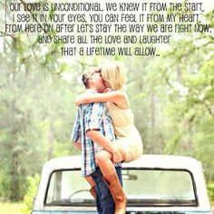 I love how a country song can say exactly what is in your heart :)
