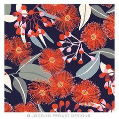 Another addition to my Australian Flora series. Orange flowering gum. #jocelynproustdesigns #australianflora #gumblossom #floweringgum #textiledesign #australiandesigner #australianbotanicals #artlicensing © Jocelyn Proust 2018