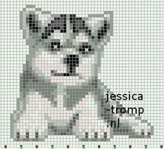 bau Bead Loom Patterns, Perler Patterns, Beading Patterns, Cross Stitch Charts, Cross Stitch Patterns, Cross Stitching, Cross Stitch Embroidery, Pixel Art, Crochet Pixel