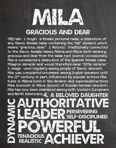 MILA Personalized Name Print / Typography Print / by OhBabyNames