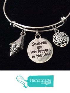 Seashells are Love Letters in the Sand Beach Nautical Sand Dollar Expandable Charm Bracelet Adjustable Wire Bangle from Jules Obsession http://www.amazon.com/dp/B01GKN13W4/ref=hnd_sw_r_pi_dp_nlSuxb1C4QKJW #handmadeatamazon