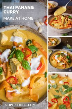 A creamy and aromatic Thai Panang Curry made with juicy chunks of chicken, crushed peanuts and a sweet Thai yellow curry paste. The spice in this Thai panang curry is balanced out with cool yogurt and sweet coriander, and it can be ready and on the table in just 30 minutes. Thai Yellow Curry Paste, Red Curry Paste, Green Curry, Thai Panang Curry, Massaman Curry Paste, Vegetarian Fish Sauce, How To Make Curry, Thai Curry Recipes, Full Fat Yogurt