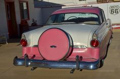 Pink Ford Fairlane on 66 in Williams, Az