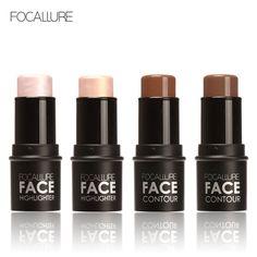Focallure Highlighter Shimmer Glowing Nude Sexy Matte Stick Cream Whitening Concealer Brighten Bronzer Makeup Highlighter Makeup Face Care Tool Kit