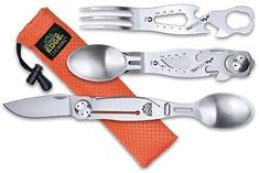 Amazon.com : Outdoor Edge ChowPal, CPL-10C, Camping, Hiking, Hunting Multi Tool Eating Utensil Set : Sports & Outdoors