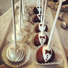 Hers and his cake pops Blitz and Glam Bridal Shower