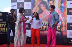 Launch of Mumbai Rowdies-  Akshay, Sonakshi and Prabhudheva hit the road to promote Rowdy Rathore!