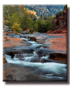 Slide Rock State Park, near Sedona, Arizona. A natural waterslide...very pretty and bring your kids (or your inner child)