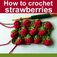 How to crochet strawberries