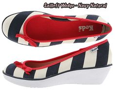 Keds Sailloft Wedge - Natural Navy. Ahh, Keds Wedges soo cute but soo hard to find  (love these 4th of July perfection)