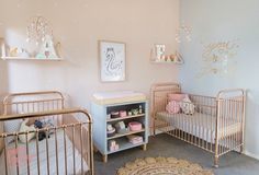 Twin Nursery designed by Petite Vintage Interiors - Children's Interior Designer