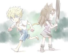 Sun and Blake as kids