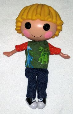 Lalaloopsy doll clothes for 12 doll  Dinosaur Top by Dakocreations, $10.00