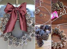 Corona de Navidad con Piñas - * Mi Casa Inventada *