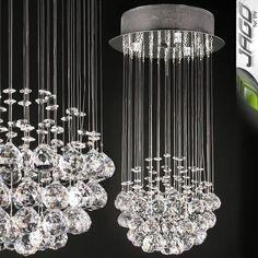Lustre EN Cristal Lampe Plafonnier Applique Suspension Luminaire 50 CM Hauteur | eBay