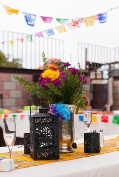 Bright, Mexican themed wedding