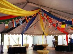 Olympic themed event with flags