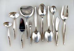 Towle Contour Sterling Silver 101 Pieces Flatware 1951 - Lauren Stanley Silver
