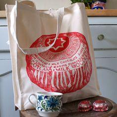 Heavyweight canvas tote bag, Teacake  Oh I love Tunnocks T cakes   yummmmmmmmmmmmm x