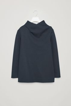 COS image 2 of Top with draped neck in Indigo