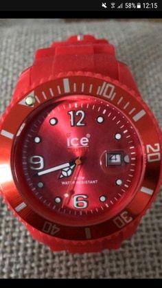 Ice Watch rouge homme - Montre homme Ice Watch rouge État parfait - très peu portée Bracelet caoutchouc Pile à changer #montre #icewatch #watch
