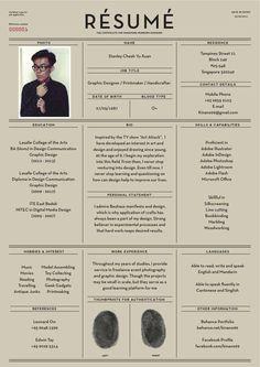 Fantastic Examples of Creative Resume Designs Cv - curriculum vitae - graphic design Design Web, Layout Design, Print Design, Design Trends, Urban Design, Design Ideas, Cv Inspiration, Graphic Design Inspiration, Portfolio Layout