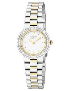 Creation watches offers 53%off on  Citizen Eco Drive Silhouette Crystal Two-Tone EW9824-53A Womens Watch US $128.00