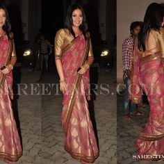 Bollywood Sarees Salwar Kameez, Kurti, Bollywood Saree, Awards, Sarees, Exotic, Pink, How To Wear, Wedding