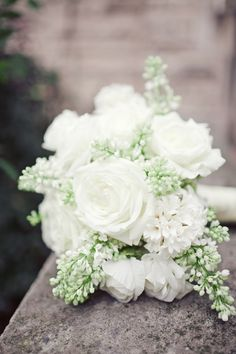 Classic White Rose Bouquet with baby's breath White Rose Bouquet, Rose Bridal Bouquet, Bride Bouquets, Bridal Flowers, Floral Bouquets, White Roses, Bouquet Wedding, Bouquet Photography, Climbing Roses