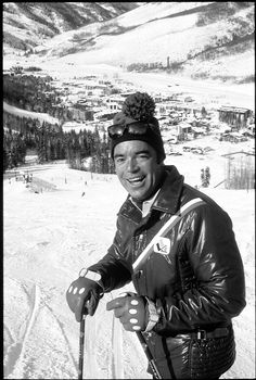 This vintage photo shows Peter Siebert enjoying a day at Vail Resort.