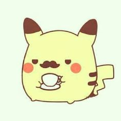A picachu with a mustash